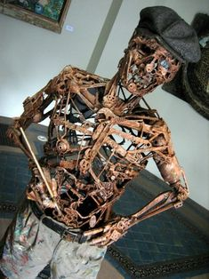 art sculptures made from recycled materials   25 Impressive Works Of Art Made From Recycled Materials