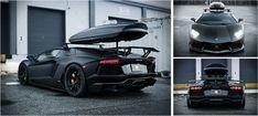 Black matte PROJECT700 Wintermode Complete Lamborghini Aventador With Roof Rack http://coolpile.com/rides-magazine/sr-auto-group-tuned-lamborghini-aventador/ - via coolpile.com by @S R Auto Group PLS Re-pin #Lamborghini #Tuning #Winter #coolpile