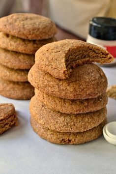 These scrumptious Soft Gingerbread Cookies are so full of flavor, slightly crispy on the edges and soft and chewy on the inside. They are a family favorite and are perfect for holiday gift giving. Soft Gingerbread Cookie Recipe, Soft Cookie Recipe, Easy Cookie Recipes, Dessert Recipes, Gluten Free Gingerbread Cookies, Gingerbread Recipes, Baking Desserts, Bar Recipes, Sweet Desserts