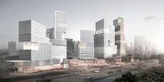 Street view, Atelier Ashley Munday scheme for Business District Jinan China
