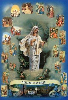 Medjugorje Hl Maria Mutter Gottes Rosenkranz Jesus - Madre de Dios Mère de Dieu | eBay
