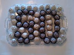 Cakeballs for a 50th birthday party.