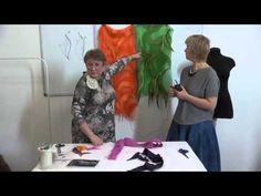 Художественное валяние косынки с использованием лент - YouTube