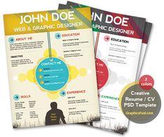 resume-psd-template creative designer cv
