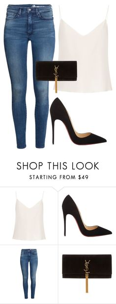 """Luxurious"" by mari-marishka ❤ liked on Polyvore featuring Raey, Christian Louboutin, H&M and Yves Saint Laurent"