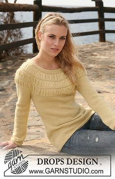ruched sweater knitting pattern