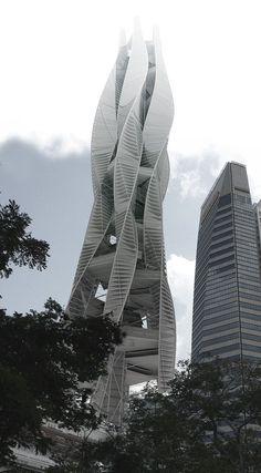 Serpentine Skyscraper in Singapore's Marina - eVolo   Architecture Magazine