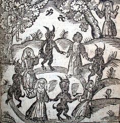 Witches Dancing with Devils in the Woods