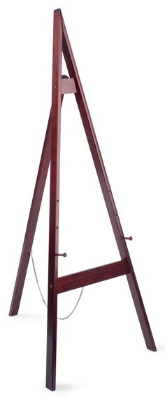 Wood Easel for Floor with Height Adjustable Display Pegs - Cherry