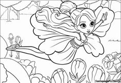 Free Printable Disney For Girls Barbie Thumbelina Coloring Pages Kids Print Out In