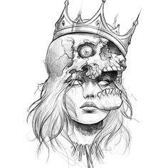 Sketch on # – Tattoo Sketches & Tattoo Drawings Dark Art Drawings, Pencil Art Drawings, Art Drawings Sketches, Tattoo Sketches, Tattoo Drawings, Sketch Art, Tattoo Art, Creepy Sketches, Dark Art Paintings