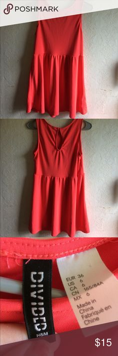 Skater Dress It's a cute coral skater dress. It's in great condition and only worn once! Divided H&M Dresses Mini