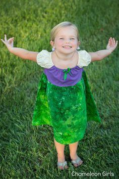 Ariel The Little Mermaid Disney Princess Peasant Dress Costume Christmas Present. $50.00, via Etsy.