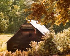 The Kermit Caughron Barn in Cades Cove was destroyed by high winds on Christmas Eve, 2009.