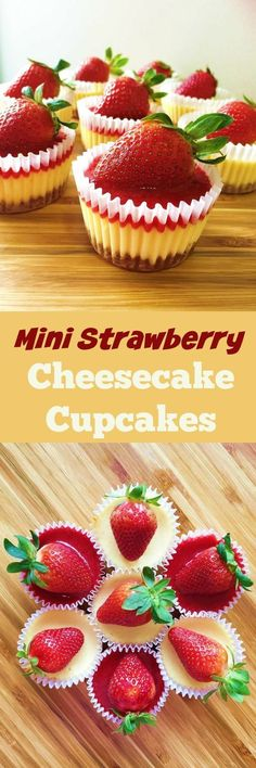 Mini cheesecakes are super easy to make. No special pans are required.