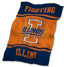 Illinois Fighting Illini NCAA UltraSoft Blanket