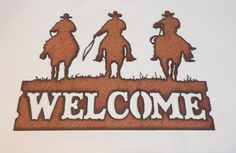 OUTLAWS Western Welcome Sign made of Rusty by TheRusticBarnAZ