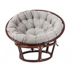 Плетеное кресло круглое Мебель Импэкс Papyrus с подушкой