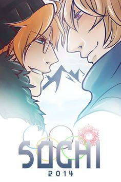 PRE-ORDERS OPEN   I'm trying to gauge how many I should order by this weekend! So if you pre-order one now, I'll make the order and they'll be in by Tuesday or Wed, which I'll then ship to you! :D   Poster featuring Hetalia's America and Russia at the Sochi Winter 2014 Olympics