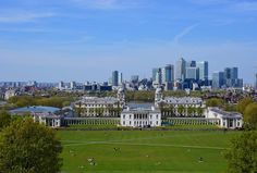 View of Greenwich and Canary Wharf from the Royal Observatory Visit Britain, London History, Exeter, Lake District, Edinburgh, Life Lessons, Dolores Park, Instagram Posts, Travel