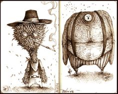 Sketchbook (by Paride Bertolin) Series of quick concepts made...