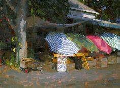 Hatch's Market by Jennifer McChristian Oil ~ 14 x 19
