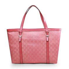 Gucci 309613 Canvas Nice Tote Bag Pink