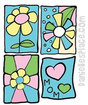 Window Clings Craft for Mother's Day www.daniellesplace.com
