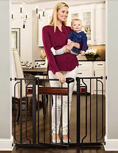 Regalo Easy Step Extra Tall Walk Thru Baby Gate Includes 4-inch Kit, Bonus Kit