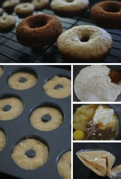 Baked apple cider (mini) doughnuts