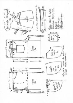 Bermuda simples – Marlene Mukai Sewing Pants, Sewing Clothes, Dress Sewing Patterns, Clothing Patterns, Como Fazer Short, Diy Clothes Design, Diy Shorts, Pattern Drafting, Fashion Sewing