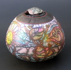 Honu by Kate & Will Jacobson (Ceramic Vessel) Ceramic Clay, Ceramic Painting, Stone Painting, Ceramic Teapots, Raku Pottery, Pottery Art, Pottery Lessons, Hand Painted Gourds, Pottery Techniques