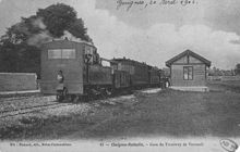Un train mixte en gare de Guignes-Ville avant 1910