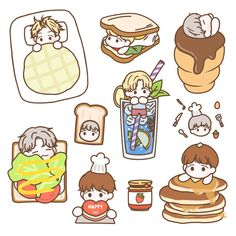 Twitter Exo Stickers, Tumblr Stickers, Printable Stickers, Cute Stickers, Kawaii Drawings, Cute Drawings, Journal Stickers, Planner Stickers, Cute Journals