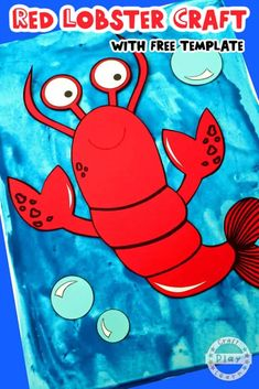 Ready to teach your toddler about ocean life and animals? There's no better way to get started than trying out some ocean themed craft activities, and that's exactly what I'm here to help you with. Lobster Crafts, Lobster Art, Octopus Crafts, Fish Crafts, Rainbow Fish Activities, Craft Activities, Art Projects For Teens, Easy Art Projects, K Crafts