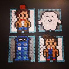 Doctor Who coasters hama beads by isaka88