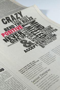 Real Recruitment Ad by Nabil Zeineddine, via Behance