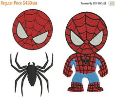 ON SALE SPIDERMAN 1 Machine Embroidery 3 by Embroiderblock