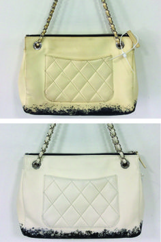 dad9cffe866c This unique Chanel handbag looks refreshed after its colour restoration  treatment here at The Handbag Spa