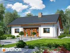Dom pod jarząbem 11 (N) House Viewing, Home Fashion, Bungalow, Building A House, Gazebo, Beach House, House Plans, New Homes, Villa
