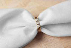 Avon Sutton Square Gold Tone Ring with clear baguette by FrogTears