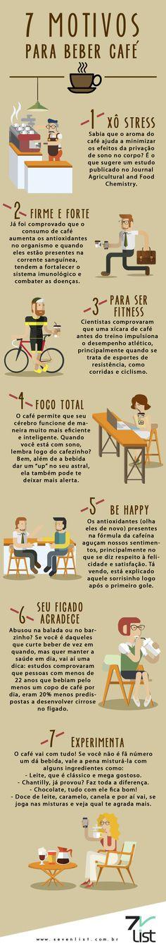 Hoje é Dia Internacional do Café, a bebida que está presente em vários momentos especiais. Além do sabor, existem outros 7 motivos para você beber café.