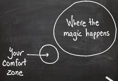 step outside your comfort zone.