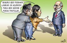 """El trazo de Carlín sobre el """"inocente"""" ofrecimiento de Keiko Fujimori de apoyar posible candidatura de Nadine Heredia a la presidencia de Perú."""