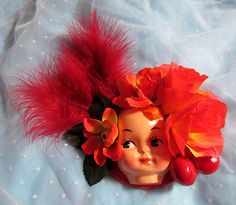 Dollface Fascinator Hat  Skull by rascalkosher on Etsy, $65.00