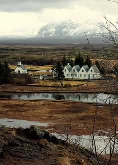 Iceland. Site of the Althingi at Thingvellir (world's oldest parliament founded 920 AD).