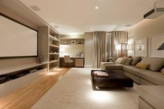Home Theather integrado na parede