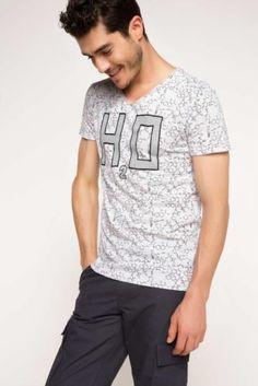 T-Shirt - Geometrik Desenli T-shirt