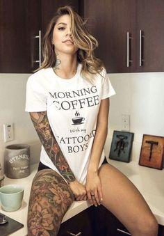 Full arm and leg sleeve Beautiful woman