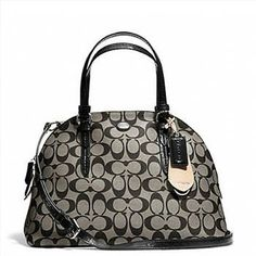 Coach Peyton Signature Cora Domed Satchel - Style 24606 | Property Room
